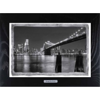 Картина-сувенир Нью Йорк  Brooklyn Bridge 28х38см