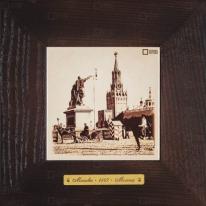 Картина-сувенир «Красная площадь, памятник Минину и Пожарскому, Спасские ворота» 18х18 см