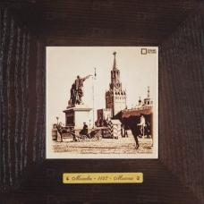 Красная площадь, памятник Минину и Пожарскому Картина на керамике