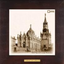 Картина-сувенир «Вознесенский монастырь и Спасские ворота» 18х18 см