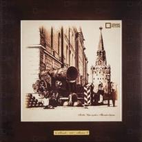 Картина-сувенир «Царь пушка и Троицкие ворота» 28х28 см