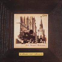Картина-сувенир «Царь пушка и Троицкие ворота» 18х18 см