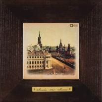 Картина-сувенир «Кремль, Царская площадь» 18х18 см