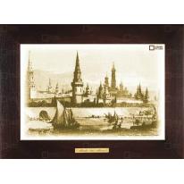 """Картина-сувенир """"Вид на Кремль (гравюра)"""" 28х38см"""