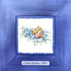 Винтажная картина  Adele точная копия сюжета старинной открытки