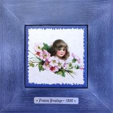 Картина на керамике Charlotte подойдет к интерьеру в голубых тонах