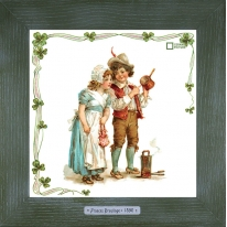 Картины винтаж Frances Brundage «Le Artisan» 28х28 см