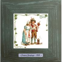 Картины винтаж Frances Brundage «Le Artisan» 18х18 см
