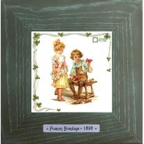 Картины винтаж Frances Brundage «Le Сordonnier» 18х18 см