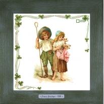 Картины винтаж Frances Brundage «Le Berger» 28х28 см
