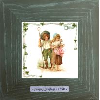 Картины винтаж Frances Brundage «Le Berger» 18х18 см