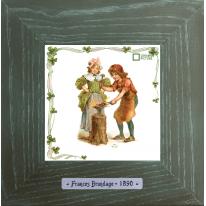 Картины винтаж Frances Brundage «Le Forgeron» 18х18 см
