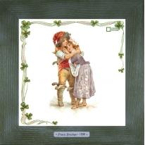 Картины винтаж Frances Brundage «Le Brigand» 28х28 см