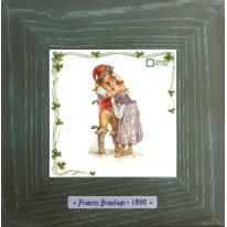 Картины винтаж Frances Brundage «Le Brigand» 18х18 см