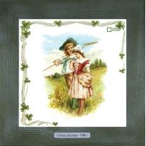 Картины винтаж Frances Brundage «Le Paysan» 28х28 см