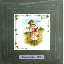 Картины винтаж Frances Brundage «Le Paysan» 18х18 см