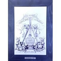 Картина гравюра на керамике Comedie Enfantine, 1861г. 28x38 см