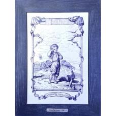 Купить гравюру Louis Ratisbonne основе керамики и дерева