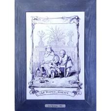 Картина-гравюра для декорирования гостиной и спальни Louis Ratisbonne 28x38 см