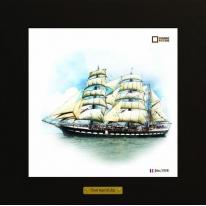 Belem картина корабль в море 28х28 см