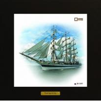 Mir картина корабль в море 28х28 см