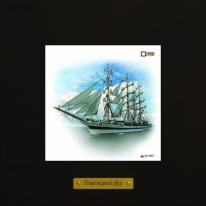 Mir картина корабль в море 18х18 см