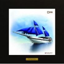 Palau Siren картина корабль в море 28х28 см