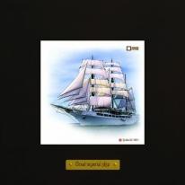 Sea Cloud II картина корабль в море 18х18 см