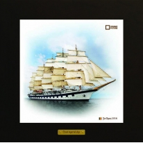 Star Clippers картина корабль в море 28х28 см