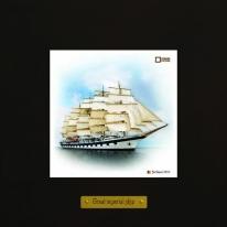 Star Clippers картина корабль в море 18х18 см