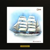 Statsraad Lehmkuhl картина корабль в море 28х28 см