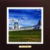 Казанский Кремль картина сувенир 28х28 см