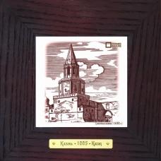 Спасская башня (1930 г.)  в деревянной рамке