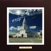 Спасская башня в Казанском Кремле картина сувенир 28х28 см