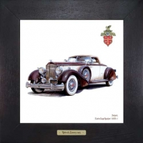 Packard Twelve Coupe Roadster 1935, 28х28см