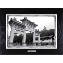 Картина-сувенир Гонконг Po Lin Monastery in Ngong Ping and Tian Tan Buddha 28х38см