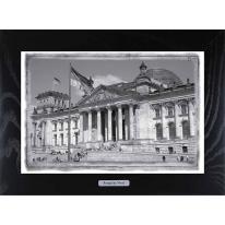 """Картина-сувенир из Берлина """"Reichstag"""" 28х38см"""