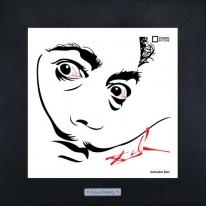 Арт портрет Salvador Dali, 28х28 см.