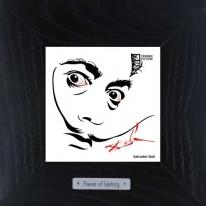 Арт портрет Salvador Dali, 18х18 см.