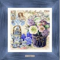 Картина-сувенир «Птифур» 28х28см, рама синяя-патина