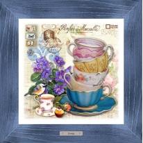 Картина-сувенир «Риволи» 28х28см, рама синяя-патина