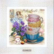 Картина-сувенир «Риволи» 28х28см, рама беж-кракле
