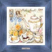 Картина-сувенир «Клафути» 28х28см, рама синяя-патина