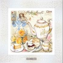 Картина-сувенир «Рандеву» 28х28см, рама беж-кракле