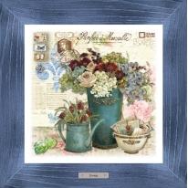 Картина-сувенир «Крокембуш» 28х28см, рама синяя-патина